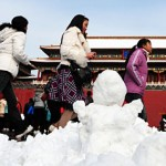 Beijing, China has been induced with a series of artificial snowtorm in november
