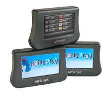 Airscript personal handset delivers real time show subtitles