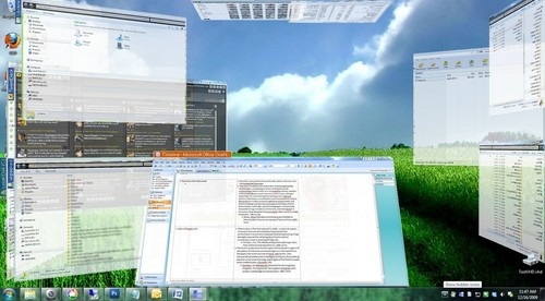 T3Desk lets you manage and view all your desktop windows in 3D